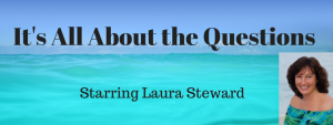 It's All About the Questions banner with photo